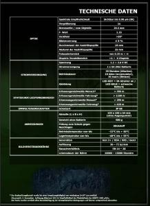 Technische Daten 1 NIR G