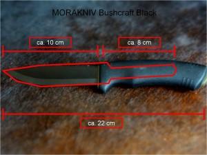 MORAKNIV Bushcraft Black Maße