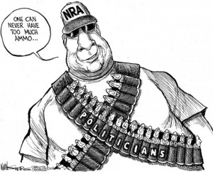 Karikatur Waffenlobby