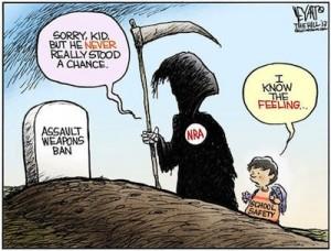 RIP by NRA Karikatur