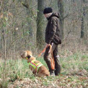 Jägerin mit Hund