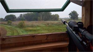 Panorama Hochsitz mit Schalldämpfer