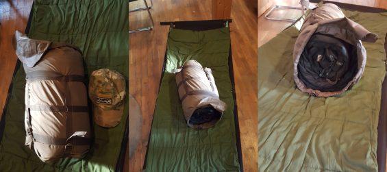 Carinthia-Schlafsack Packmaß
