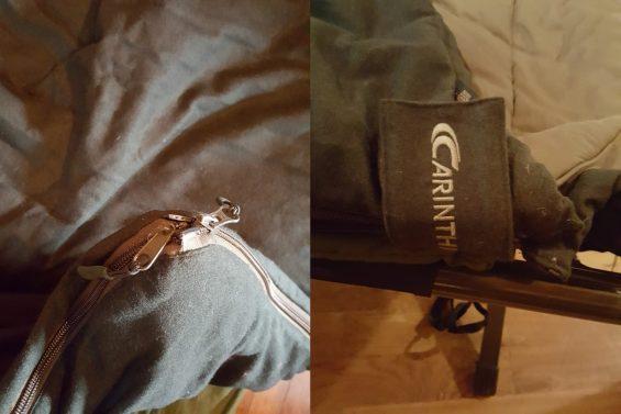 Carinthia-Schlafsack Reißverschluss