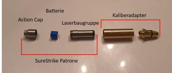 SureStrike Cartridge mit Adapter